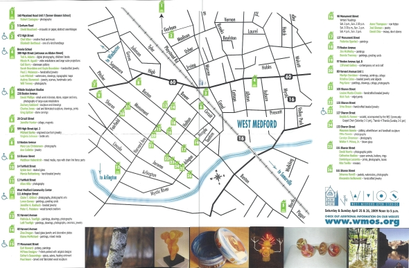 West Medford Open Studios Map